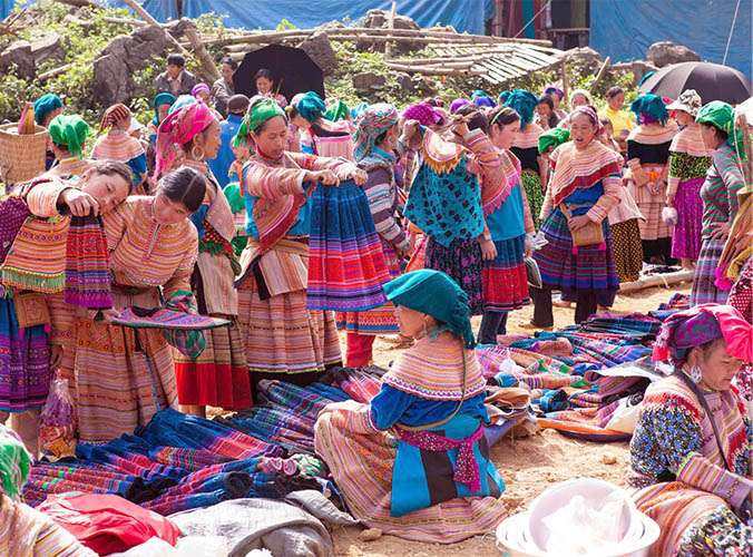 the markets of North Vietnam, Bac Ha market